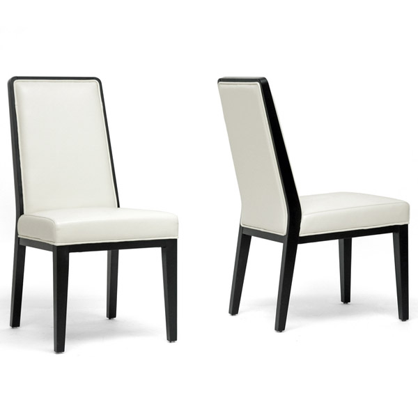 Theia Leather Dining Chair Cream Set Of 2 In Dining Chairs