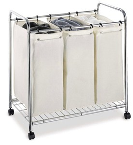 Three-Bag Laundry Sorter Image