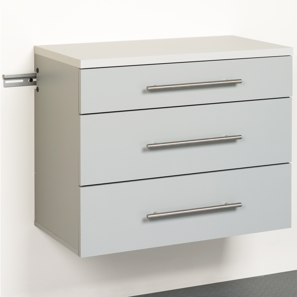 Three drawer storage cabinet in cabinets