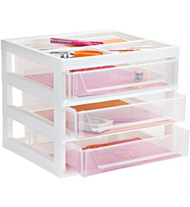 Three-Drawer Storage Unit Image