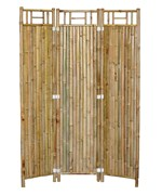 Three Panel Bamboo Screen