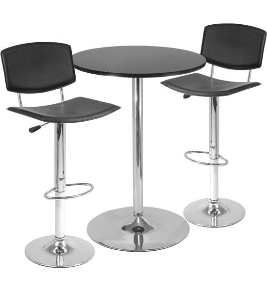 Bar Stools And Tables Bar Table Sets Three Piece Black And Steel Pub