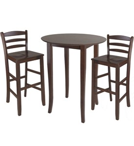 Three-Piece High-Top Dining Table and Chairs Image