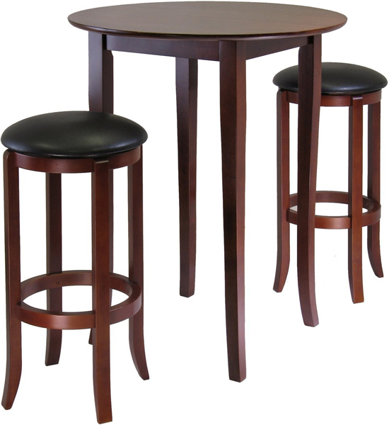 Three-Piece Pub Table Set in Bar Table Sets