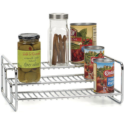 Three Tier Can Rack In Shelf Risers And Organizers