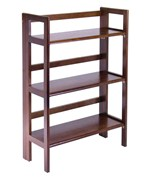 Three Tier Folding Storage Shelf - Antique Walnut