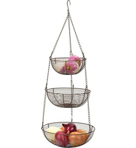 Three-Tier Hanging Fruit Basket - Bronze Image
