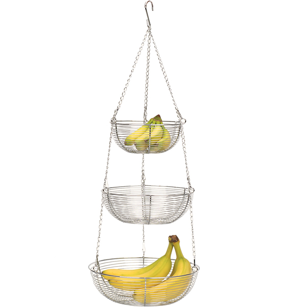 Three-Tier Fruit Basket - Woven Wire Image