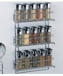 Three-Tier Mounted Spice Rack - Chrome