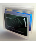 Clear Plastic Hipster Wallet Insert - 4 Windows