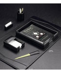 six-piece-black-leather-desk-set