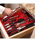Silicone Drawer Organizer Set - Red