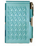 Flip Notes Pen and Notepad - Turbo Turquoise