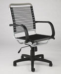 Bungee High Back Office Chair - Black and Aluminum