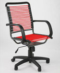 Bungee High Back Office Chair - Red and Black