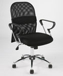 Marlin Mesh Office Chair - Black and Chrome