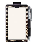 Auto Notes Pad and Pencil Visor Clip - Zebra