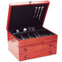 Handmade Wooden Silverware Chest - Cherry