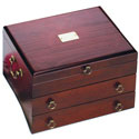 Handmade Wooden Silverware Chest - Mahogany