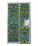 Blue Cheetah Print Locker Decor Wallpaper