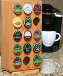 Bamboo K-Cup Storage Rack - 30 K-Cups
