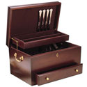 Handmade Silverware Chest - Mahogany