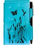 Flip Notes Pen and Notepad - Blue Butterfly