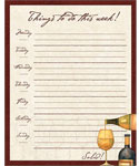 Weekly Day Planner - Wine