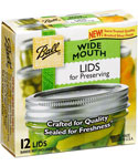 Wide Mouth Ball Jar Lids