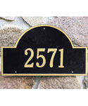 Arch Wall Address Plaque - One-Line