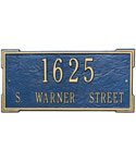 Roanoke Wall Address Plaque - Estate Two-Line
