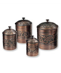 Kitchen Canister Set - Antique Copper
