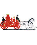 Whitehall Address Sign Ornament - Fire Engine