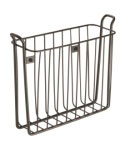 Wall Mount Magazine Rack - Bronze