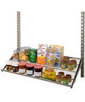 FreedomRail Two-Tier Profile Wire Shelf - Nickel
