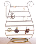 Silver Harp Earring and Jewelry Display Stand