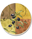Stone Coaster Set - Tuscan Olives