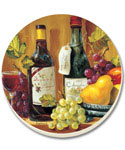 Stone Coaster Set - Fruit and Wine