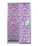 Purple Zebra Print Locker Decor Wallpaper