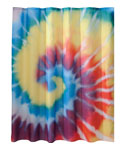 Spiral Tie Dye Shower Curtain