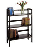 Three-Tier Folding Display Shelf - Black