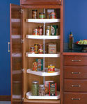 Five-Shelf Cabinet Lazy Susan - White - D-Shaped
