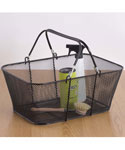 Large Mesh Shopping Basket - Black