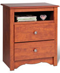 Monterey Tall Two-Drawer Night Stand - Cherry