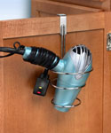 Over the Cabinet Blow Dryer Holder