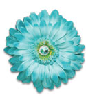 Magnetic Aqua Blue Locker Decor Flower