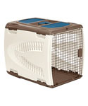 Large Pet Carrier - Taupe and Brown