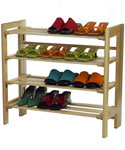 Wooden Four-Tier Shoe Shelf