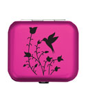 Pink Hummingbird Pill Case