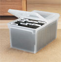 Split Lid Stacking File Box